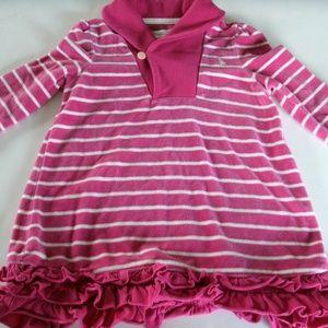 Ralph Lauren Girl's Dress Velour Pink Striped